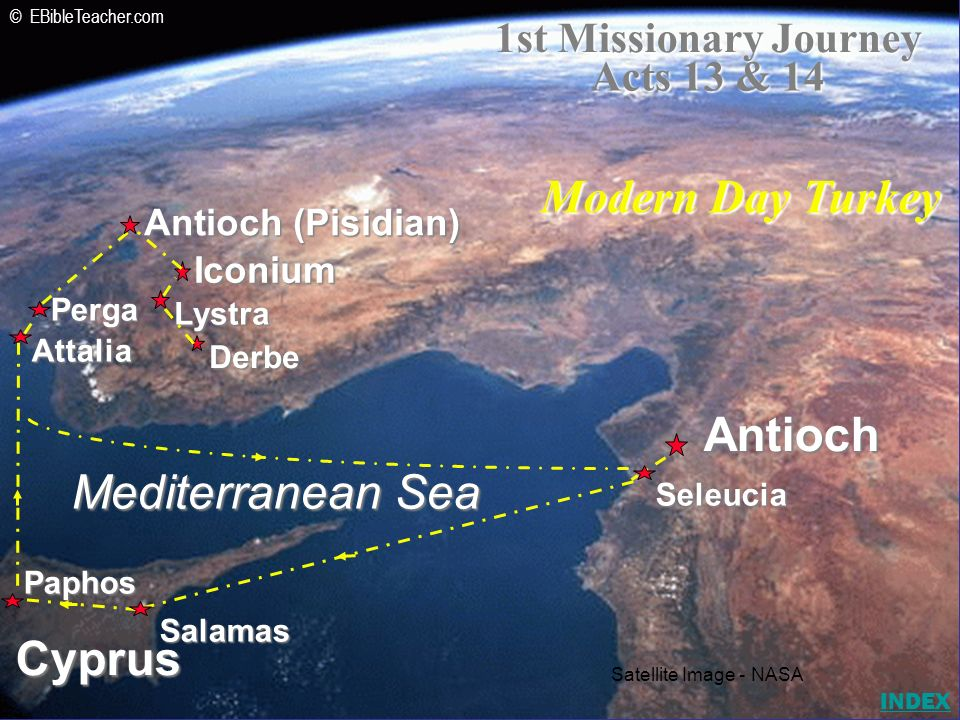 Modern Day Turkey Antioch Mediterranean Sea Cyprus
