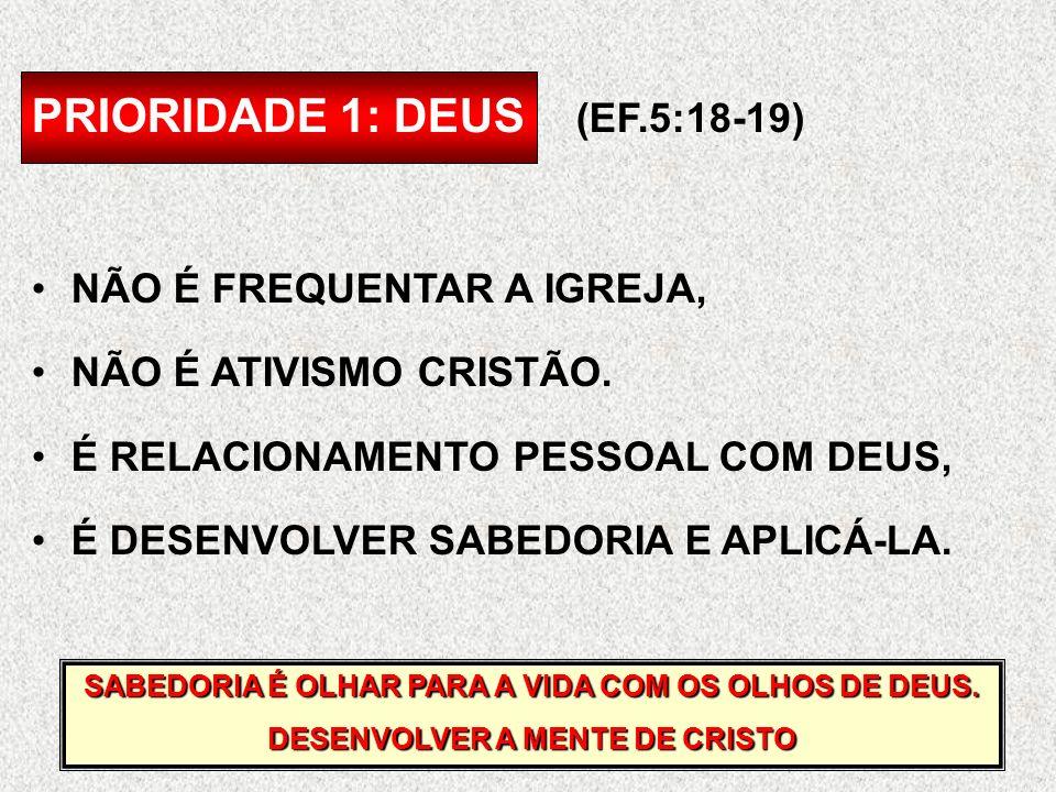 PRIORIDADE 1: DEUS (EF.5:18-19)