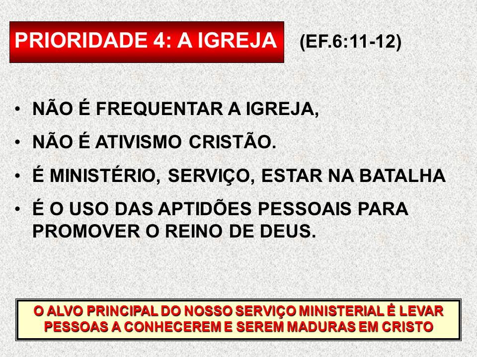 PRIORIDADE 4: A IGREJA (EF.6:11-12)