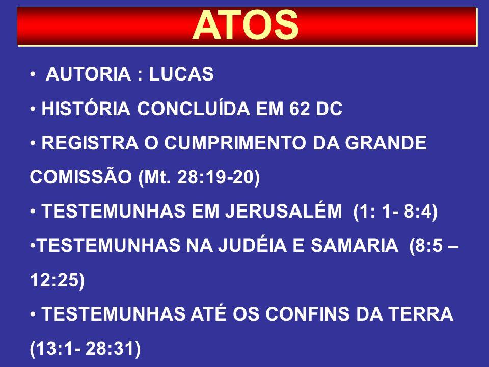ATOS AUTORIA : LUCAS HISTÓRIA CONCLUÍDA EM 62 DC