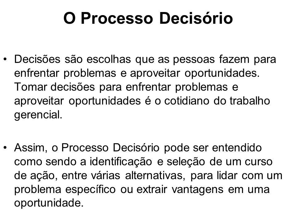 O Processo Decisório