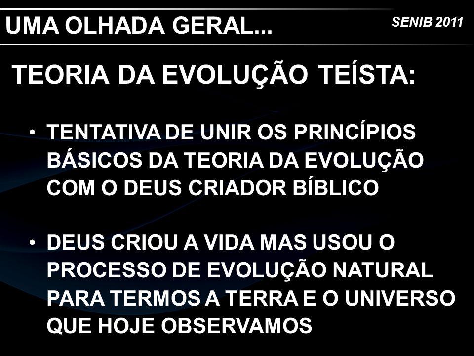 TEORIA DA EVOLUÇÃO TEÍSTA: