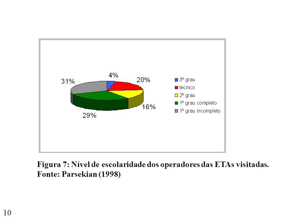 Figura 7: Nível de escolaridade dos operadores das ETAs visitadas.