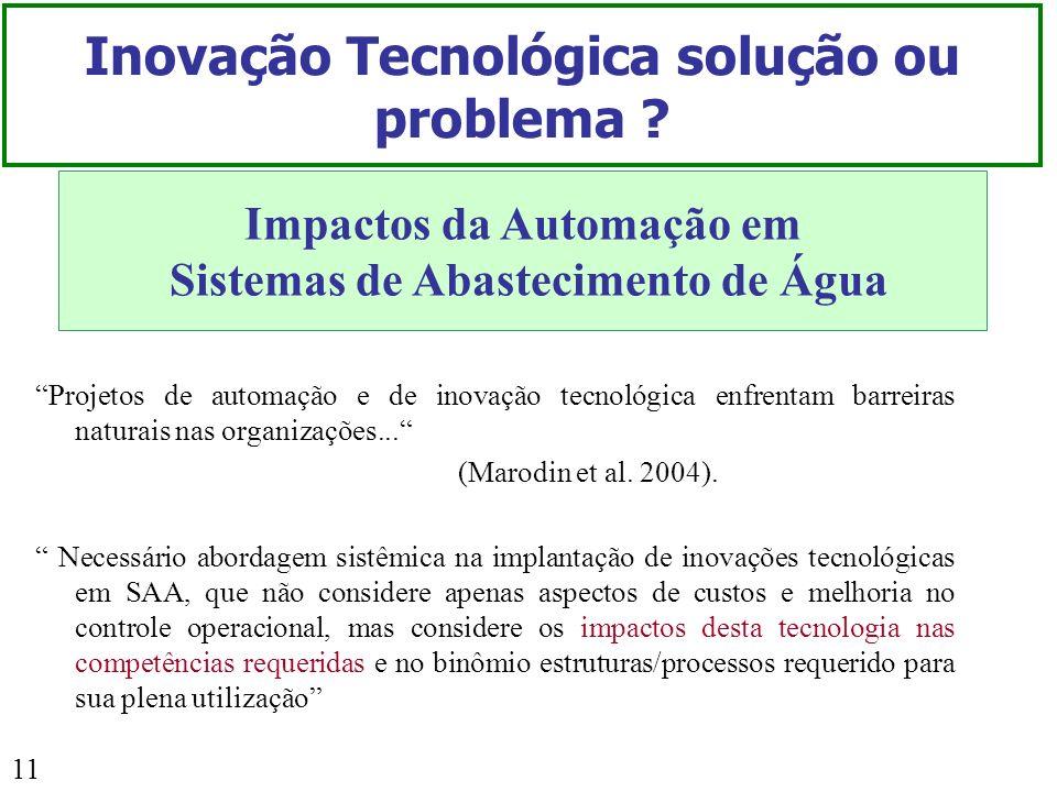 Inovação Tecnológica solução ou problema
