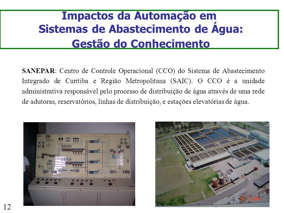 Impactos da Automação em Sistemas de Abastecimento de Água: Gestão do Conhecimento