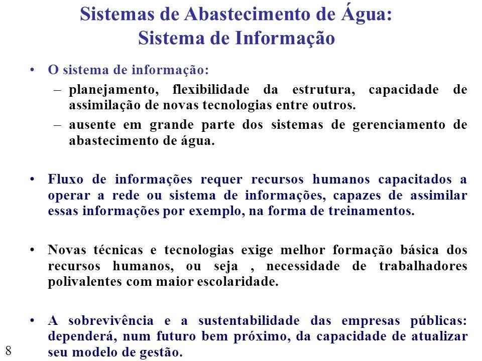 Sistemas de Abastecimento de Água: Sistema de Informação