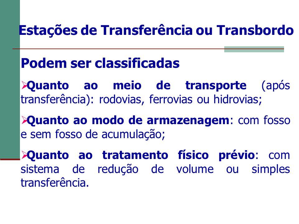 Estações de Transferência ou Transbordo