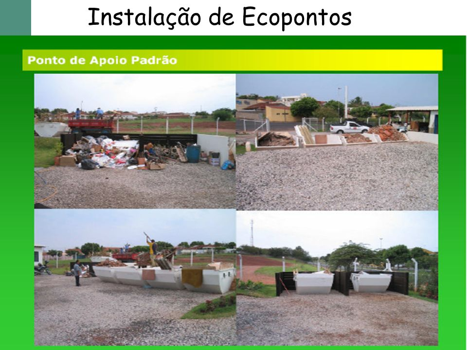 Instalação de Ecopontos