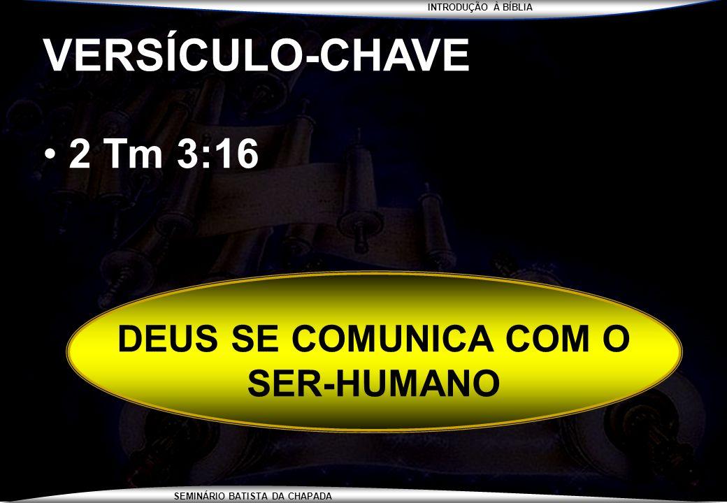 DEUS SE COMUNICA COM O SER-HUMANO