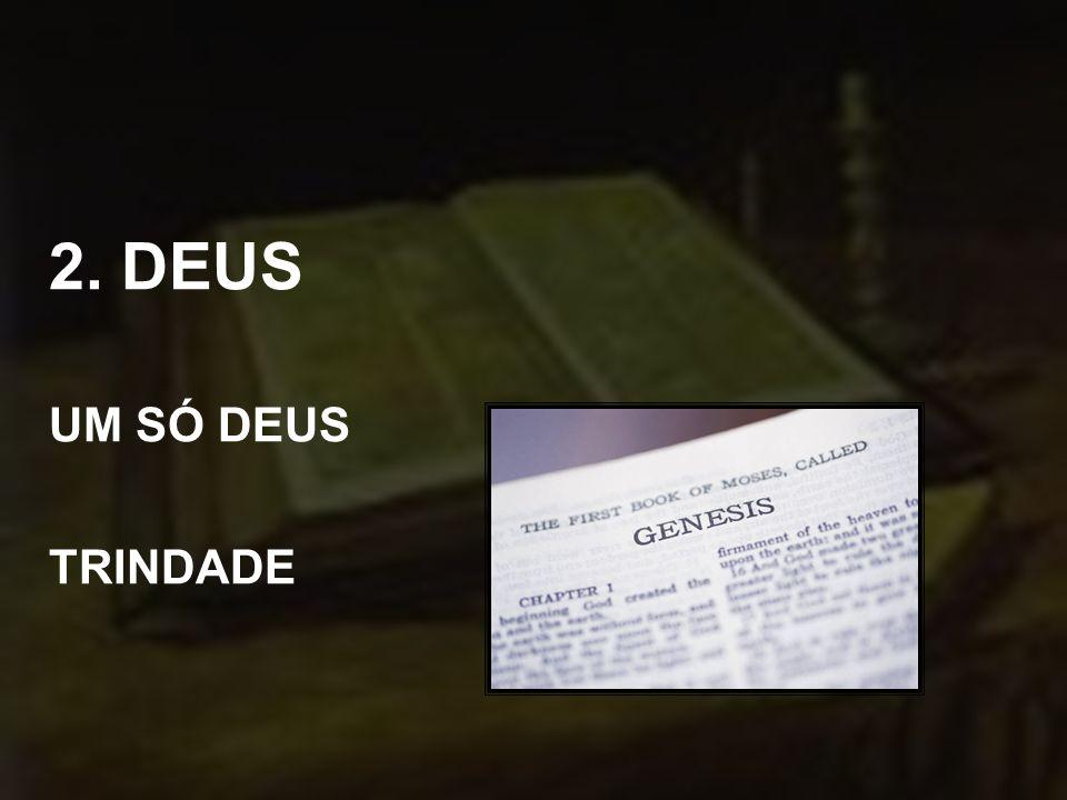 2. DEUS UM SÓ DEUS TRINDADE