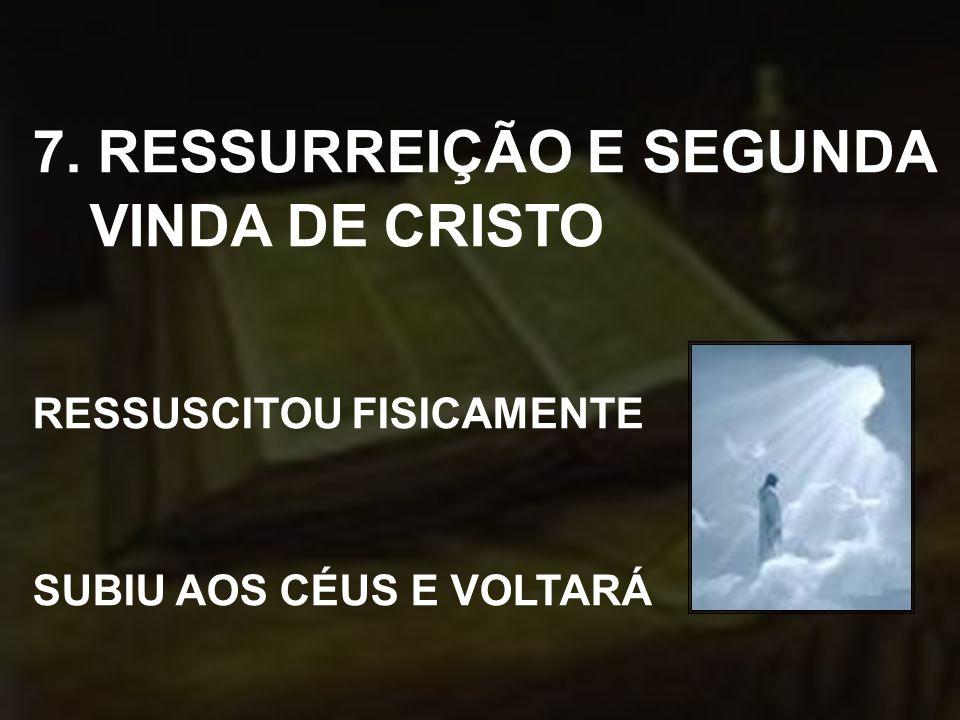 7. RESSURREIÇÃO E SEGUNDA VINDA DE CRISTO