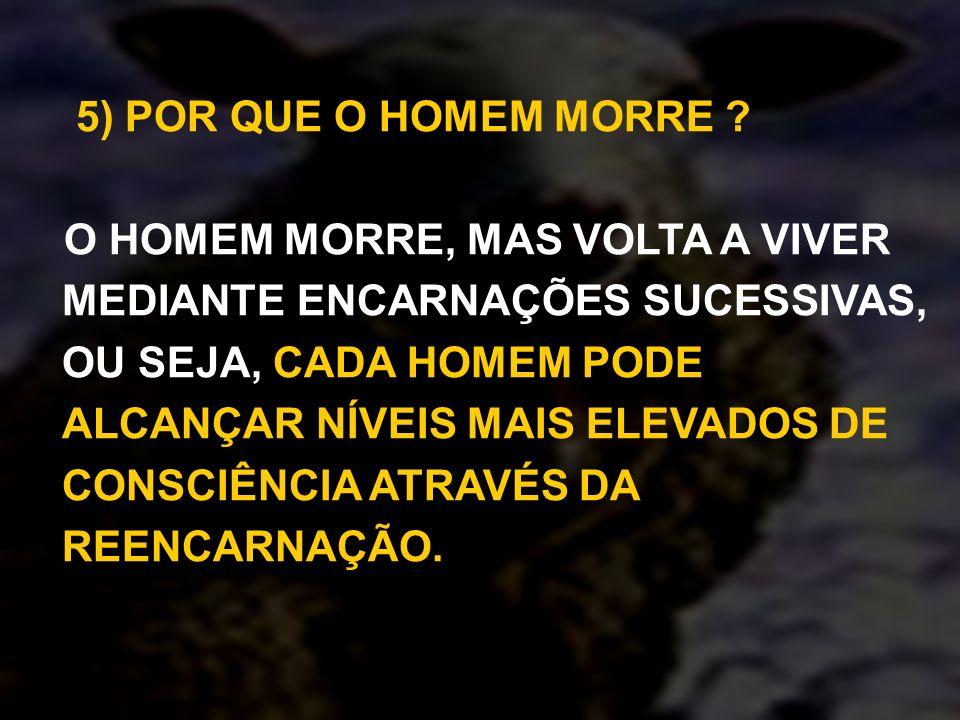 5) POR QUE O HOMEM MORRE