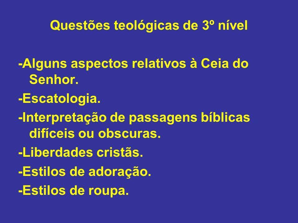 Questões teológicas de 3º nível