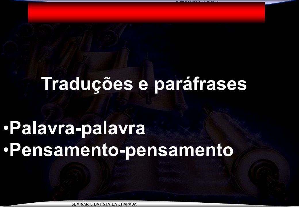 Traduções e paráfrases