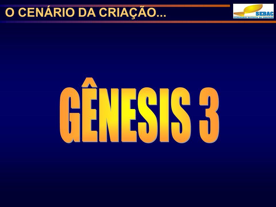 O CENÁRIO DA CRIAÇÃO... GÊNESIS 3