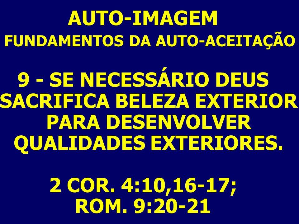 FUNDAMENTOS DA AUTO-ACEITAÇÃO
