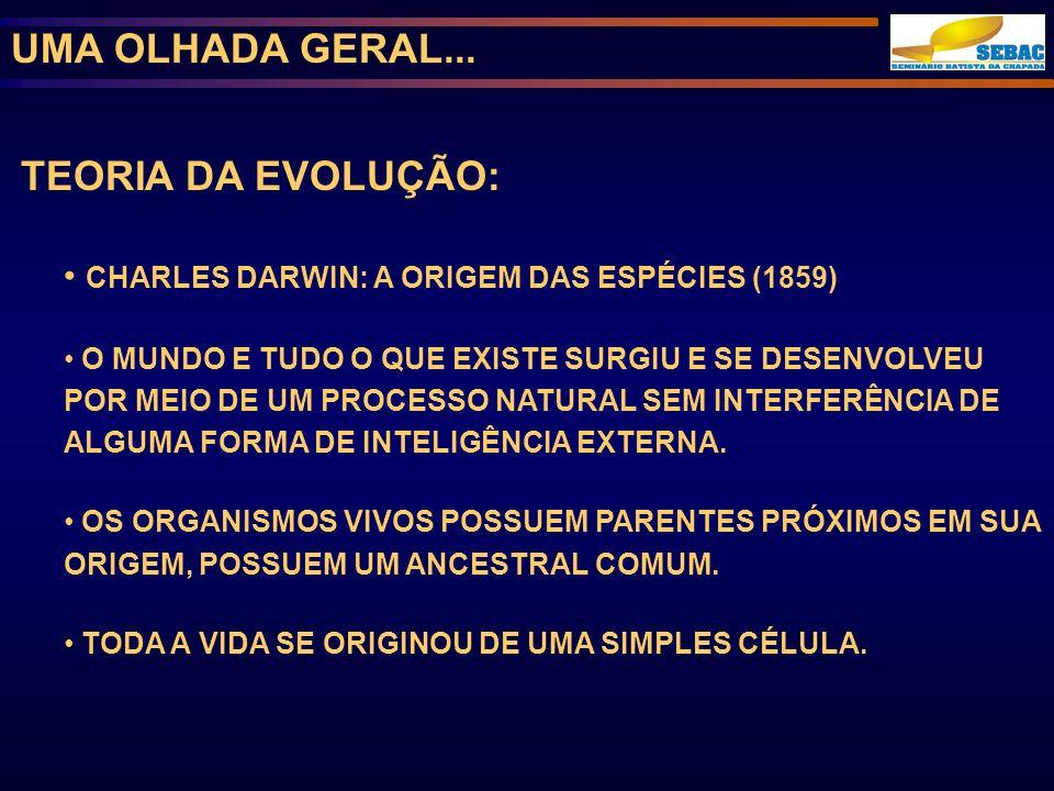 UMA OLHADA GERAL... TEORIA DA EVOLUÇÃO: