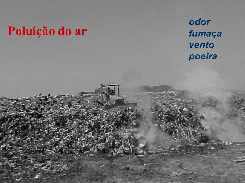 odor fumaça vento poeira Poluição do ar