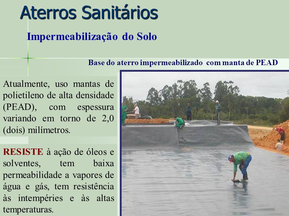 Aterros Sanitários Impermeabilização do Solo