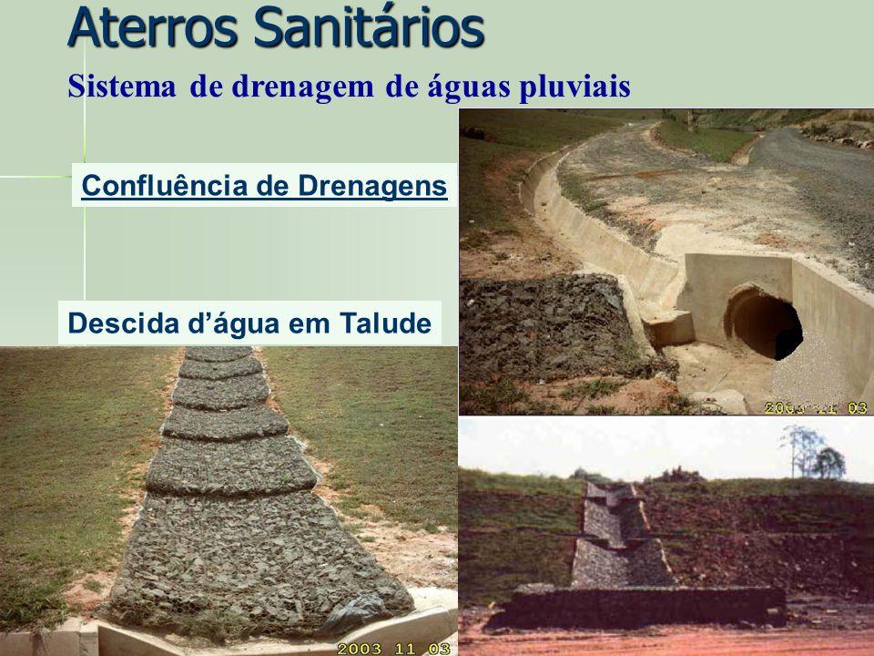 Aterros Sanitários Sistema de drenagem de águas pluviais
