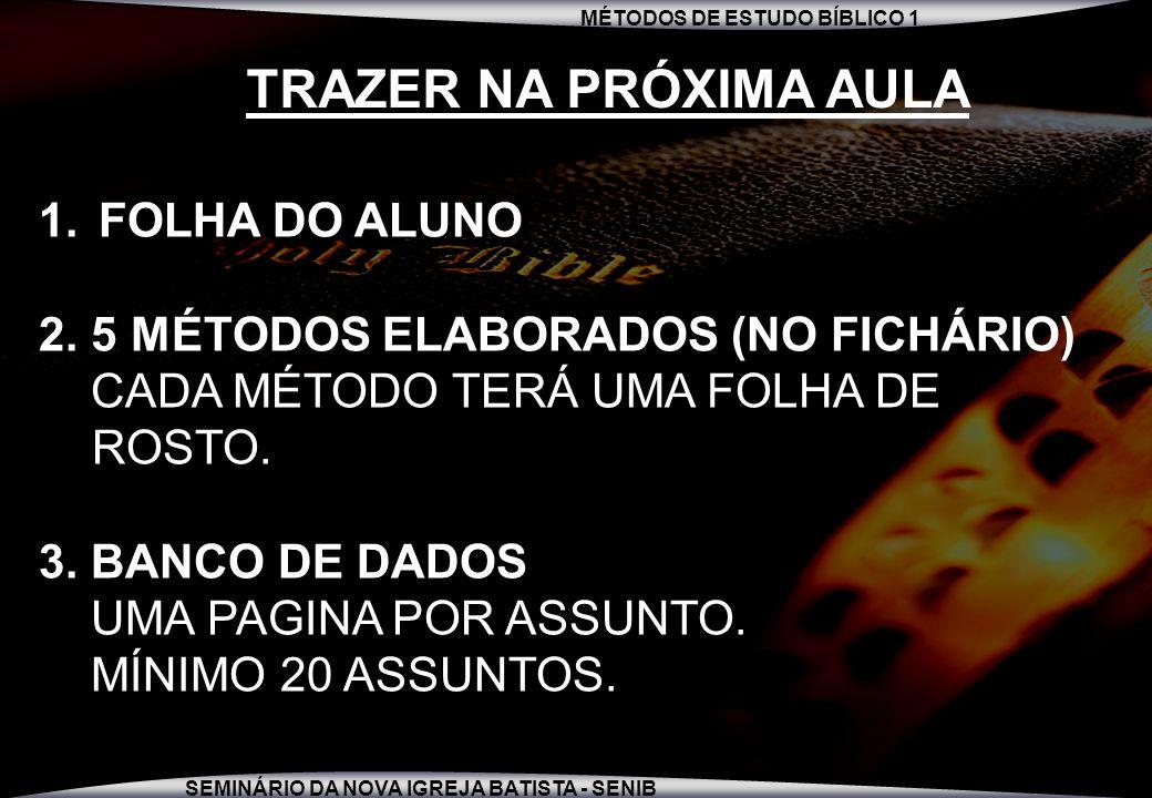 TRAZER NA PRÓXIMA AULA FOLHA DO ALUNO