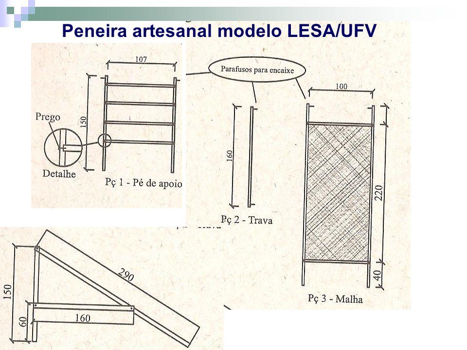 Peneira artesanal modelo LESA/UFV