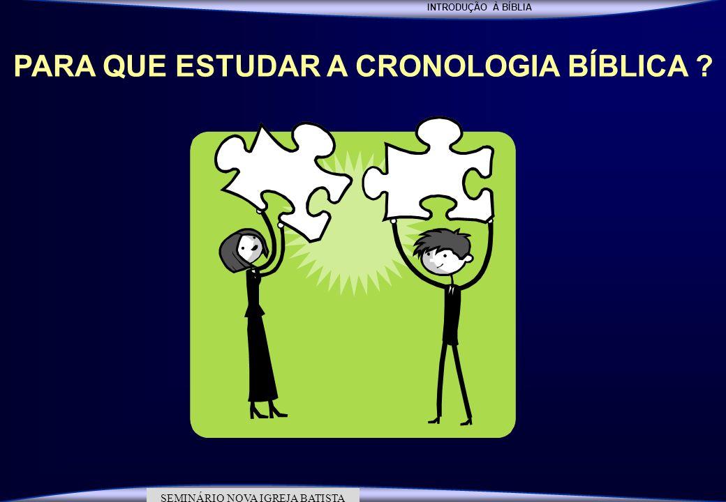 PARA QUE ESTUDAR A CRONOLOGIA BÍBLICA