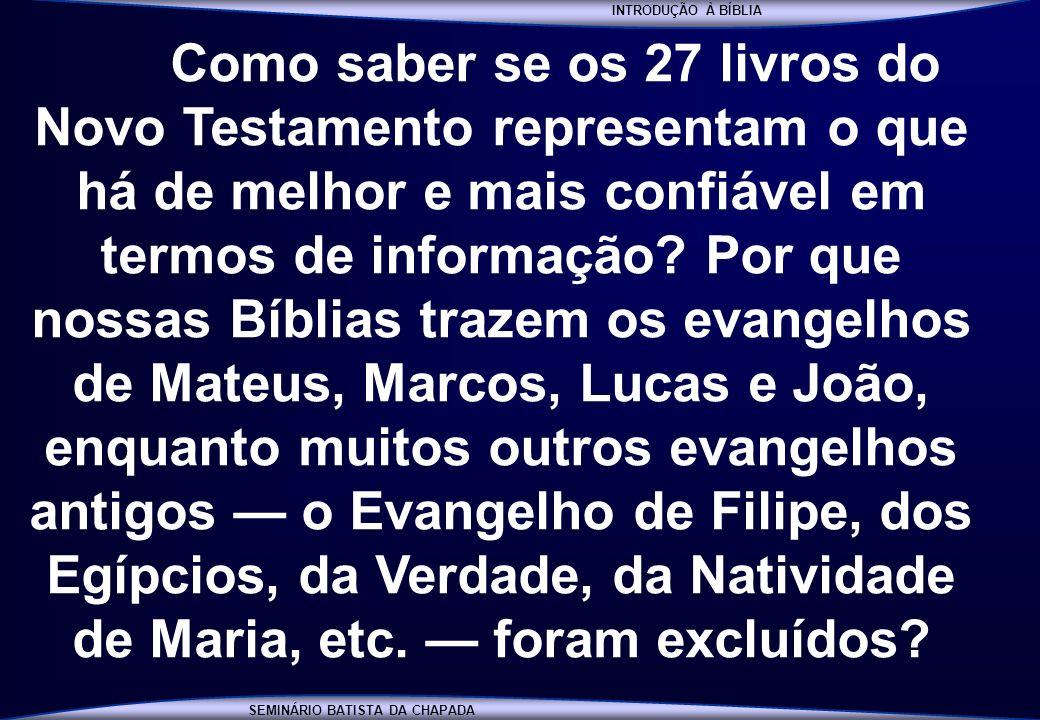 INTRODUÇÃO À BÍBLIA