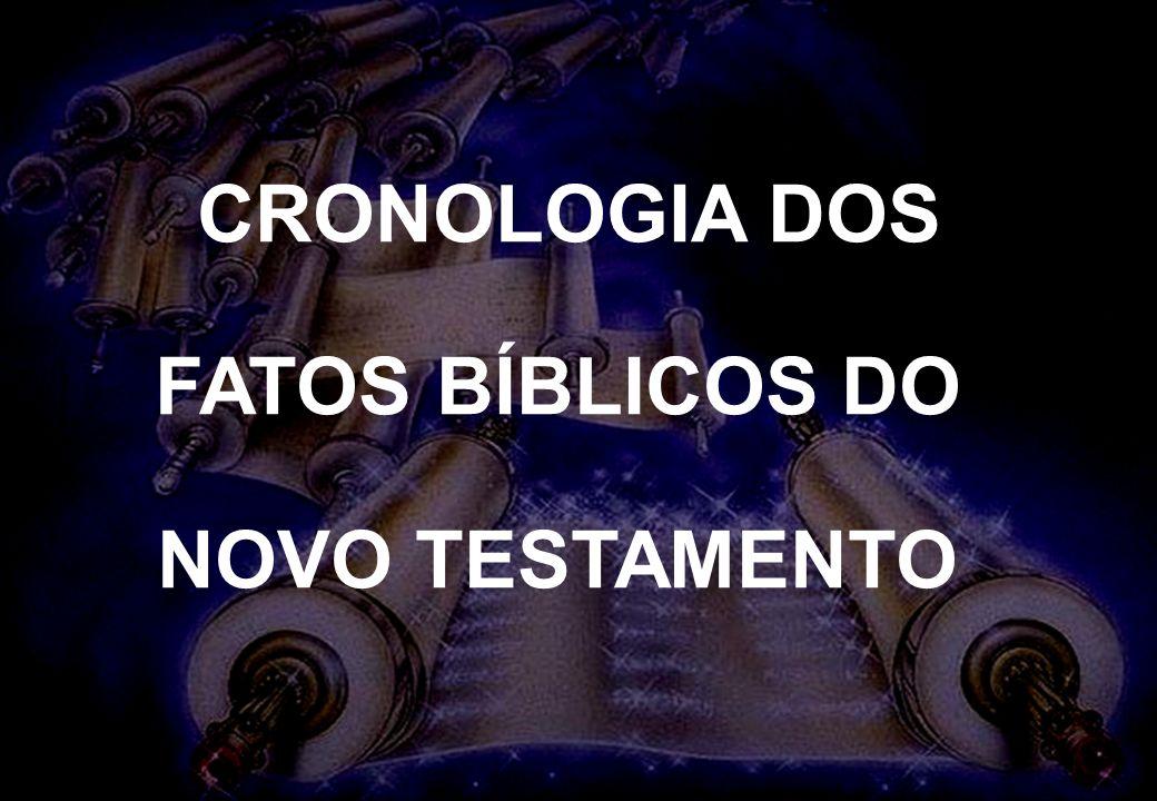 CRONOLOGIA DOS FATOS BÍBLICOS DO NOVO TESTAMENTO