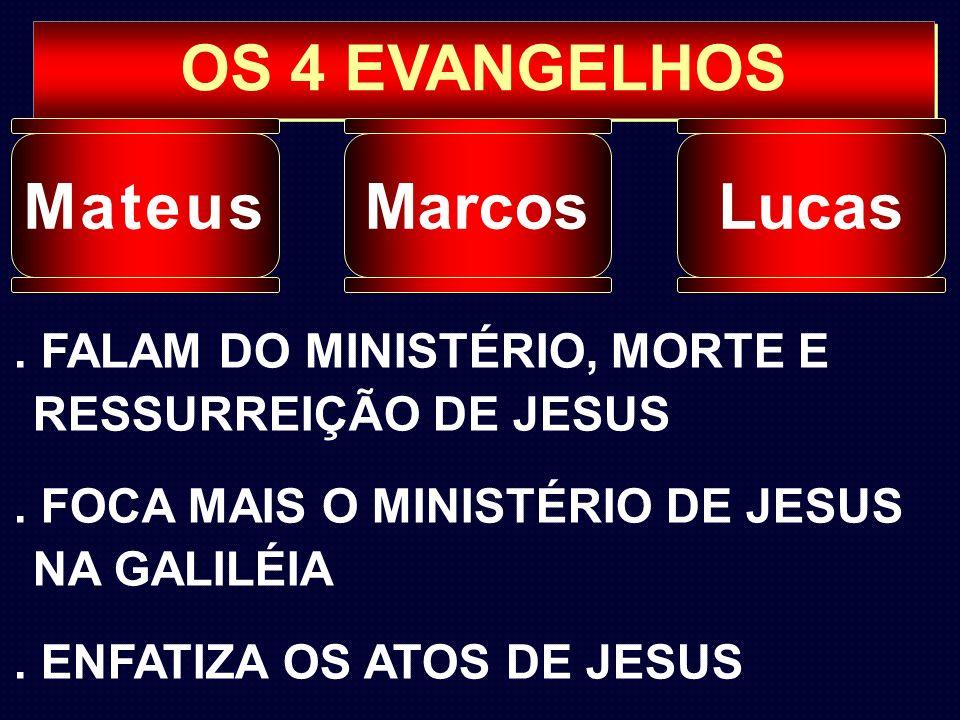 OS 4 EVANGELHOS Mateus Marcos Lucas