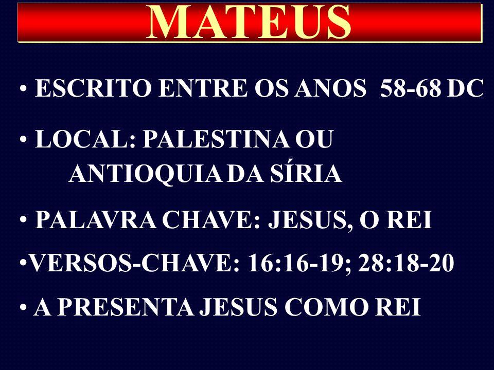 MATEUS ESCRITO ENTRE OS ANOS 58-68 DC