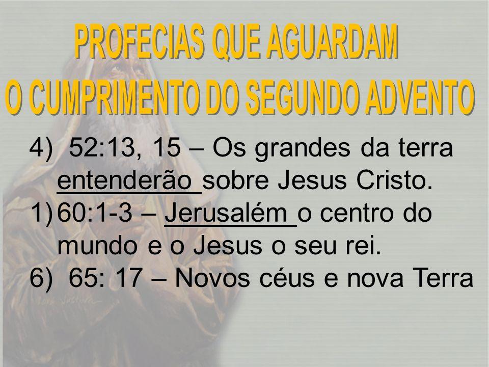 PROFECIAS QUE AGUARDAM O CUMPRIMENTO DO SEGUNDO ADVENTO