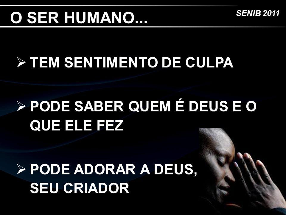 O SER HUMANO... TEM SENTIMENTO DE CULPA