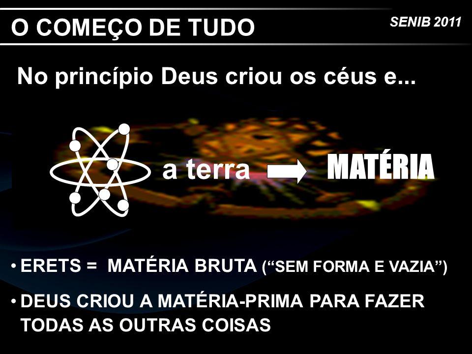 a terra MATÉRIA O COMEÇO DE TUDO No princípio Deus criou os céus e...
