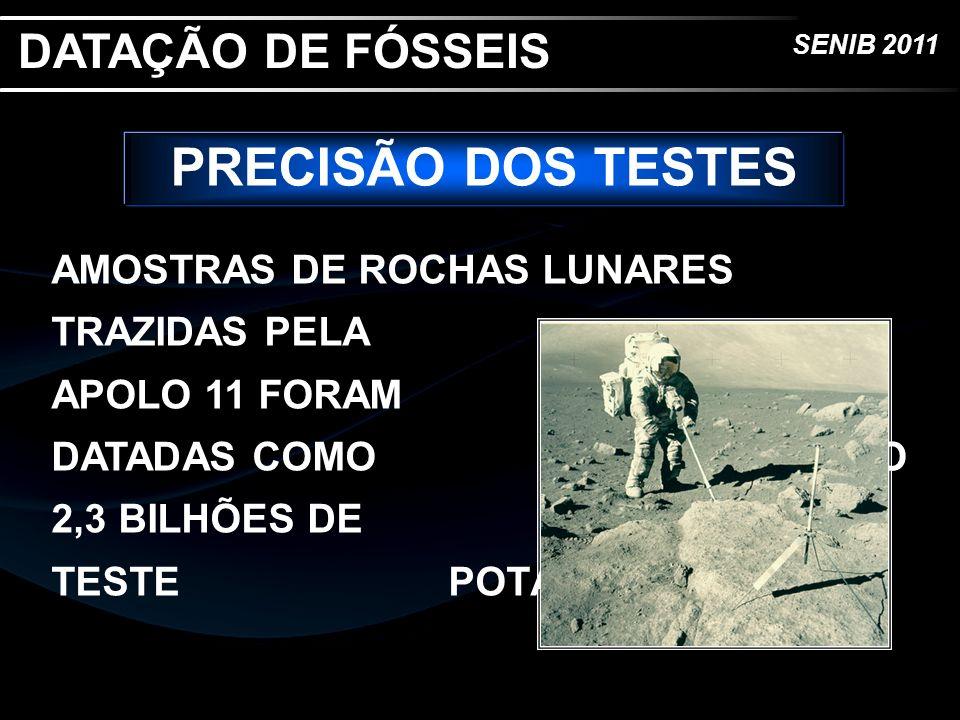 PRECISÃO DOS TESTES DATAÇÃO DE FÓSSEIS
