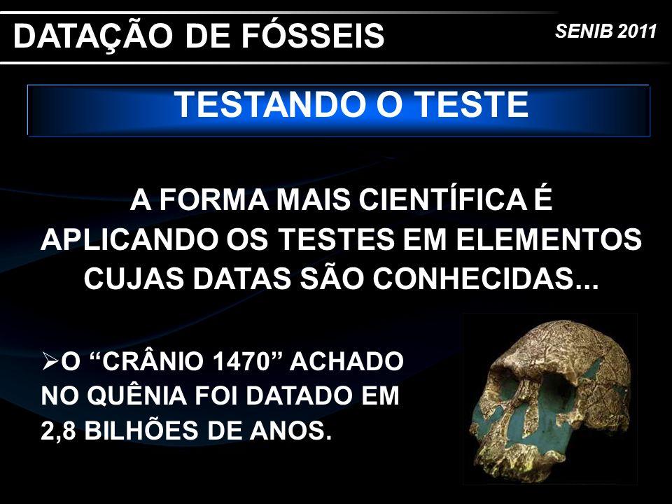 TESTANDO O TESTE DATAÇÃO DE FÓSSEIS
