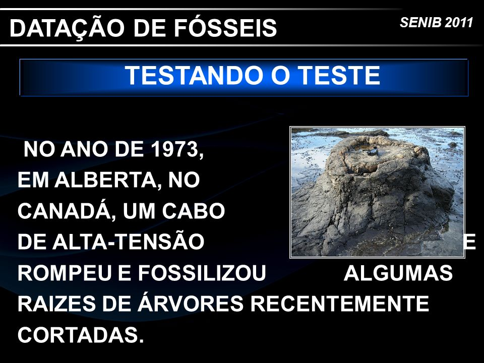 DATAÇÃO DE FÓSSEIS TESTANDO O TESTE.