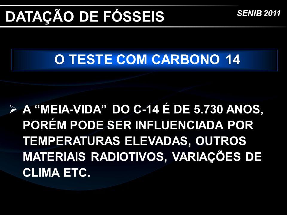 DATAÇÃO DE FÓSSEIS O TESTE COM CARBONO 14