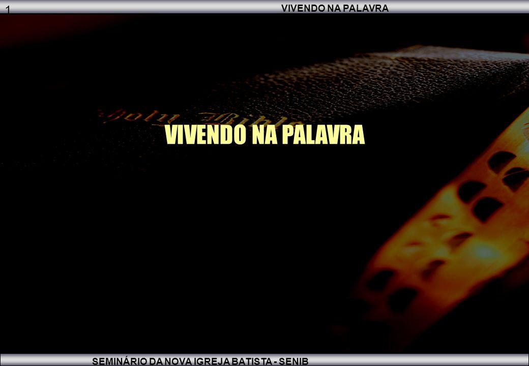1 1 VIVENDO NA PALAVRA