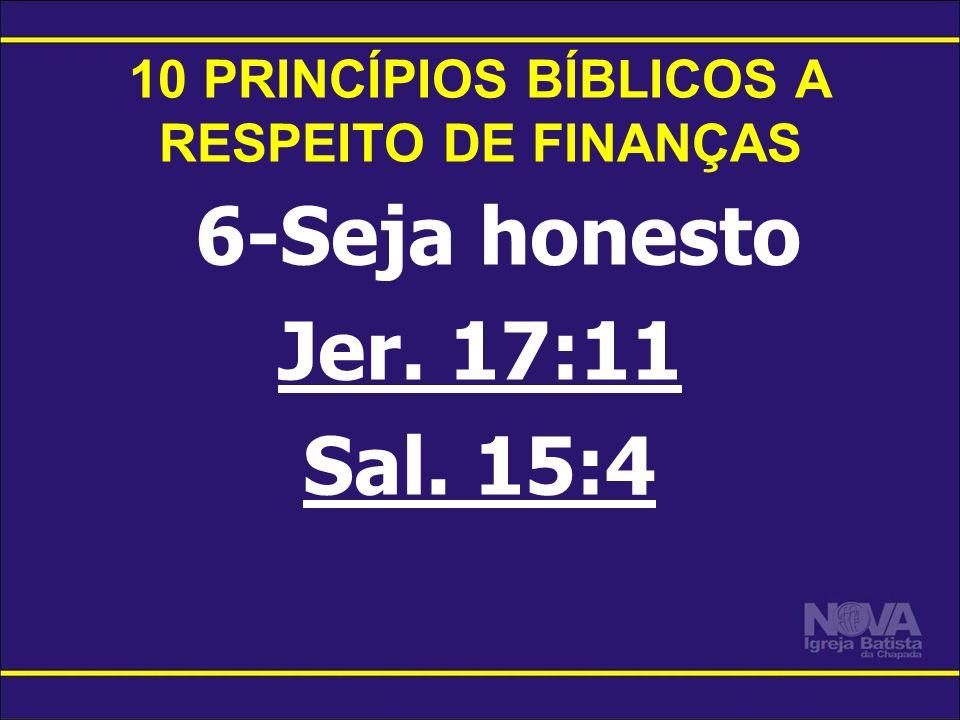 10 PRINCÍPIOS BÍBLICOS A RESPEITO DE FINANÇAS