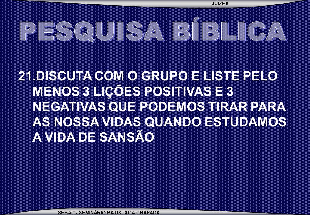 PESQUISA BÍBLICA
