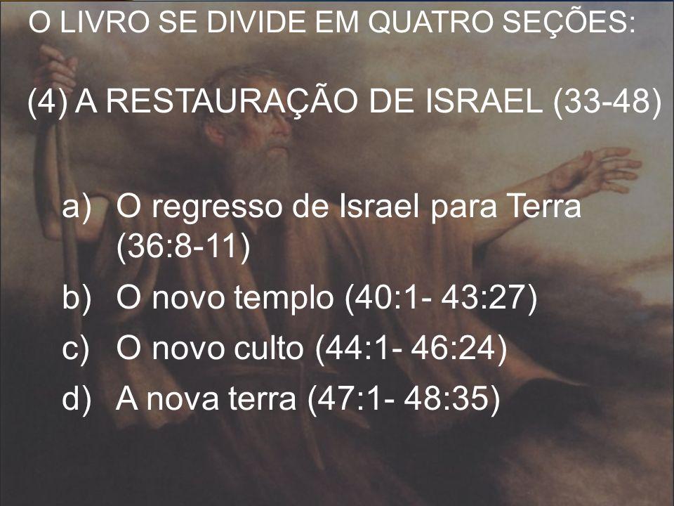 O regresso de Israel para Terra (36:8-11) O novo templo (40:1- 43:27)
