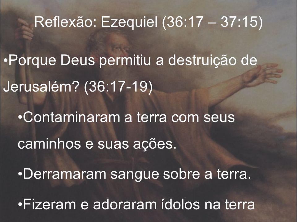 Reflexão: Ezequiel (36:17 – 37:15)