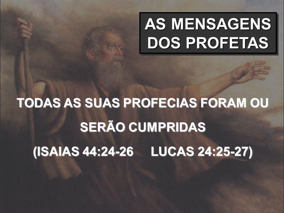 AS MENSAGENS DOS PROFETAS
