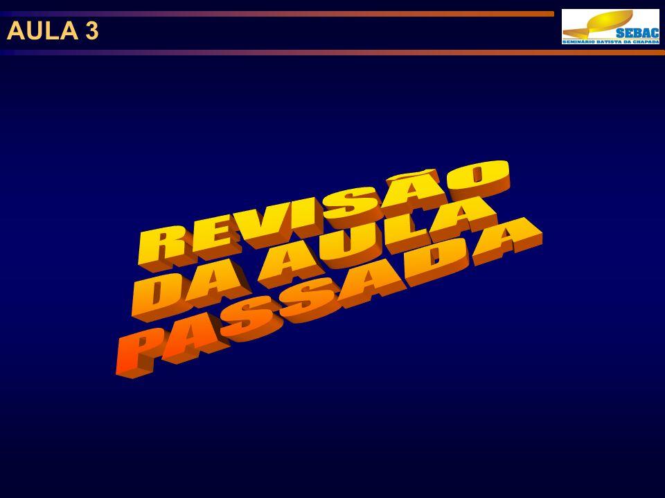 AULA 3 REVISÃO DA AULA PASSADA