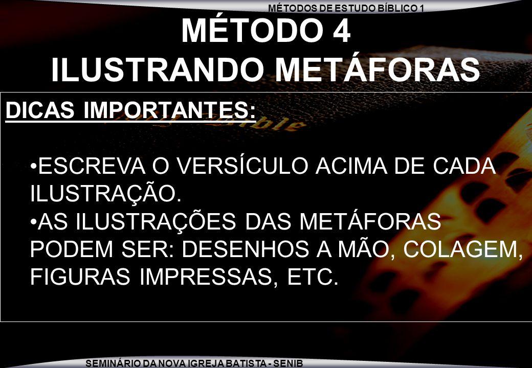 MÉTODO 4 ILUSTRANDO METÁFORAS