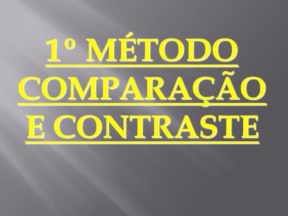 COMPARAÇÃO E CONTRASTE