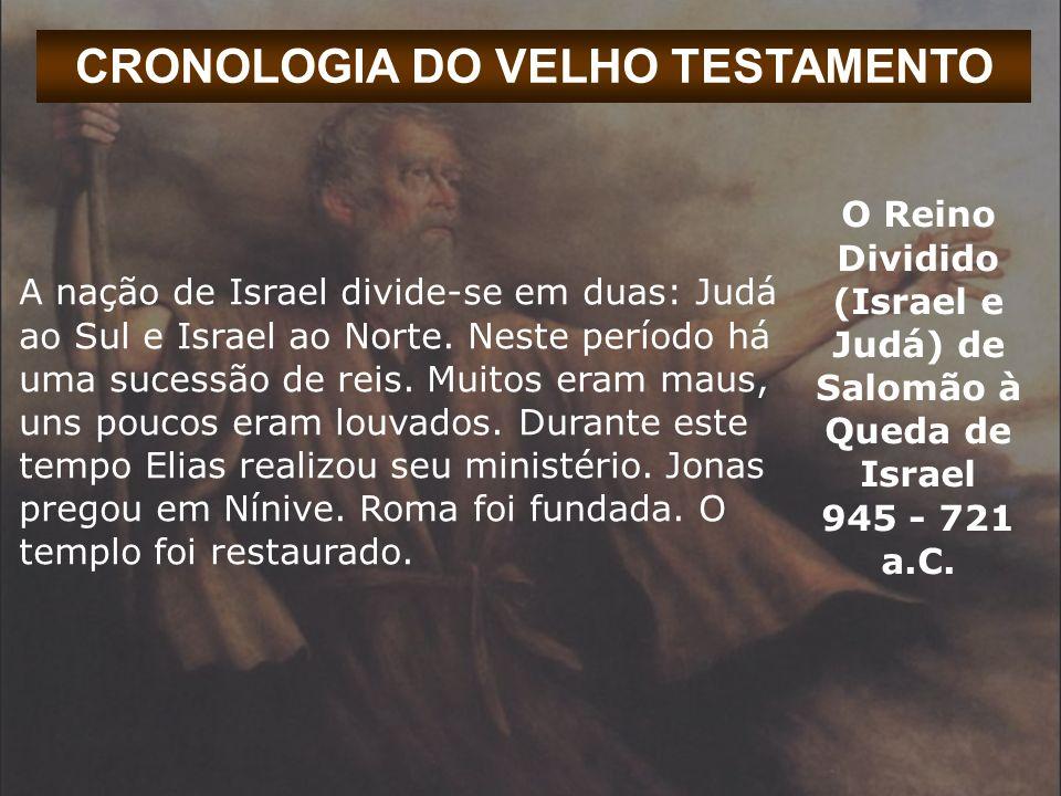 CRONOLOGIA DO VELHO TESTAMENTO