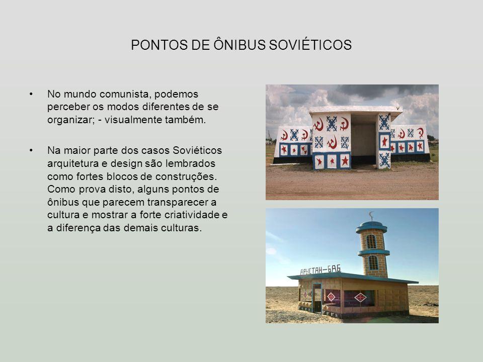 PONTOS DE ÔNIBUS SOVIÉTICOS