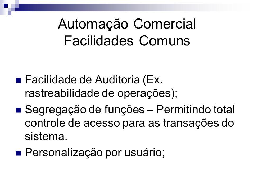 Automação Comercial Facilidades Comuns